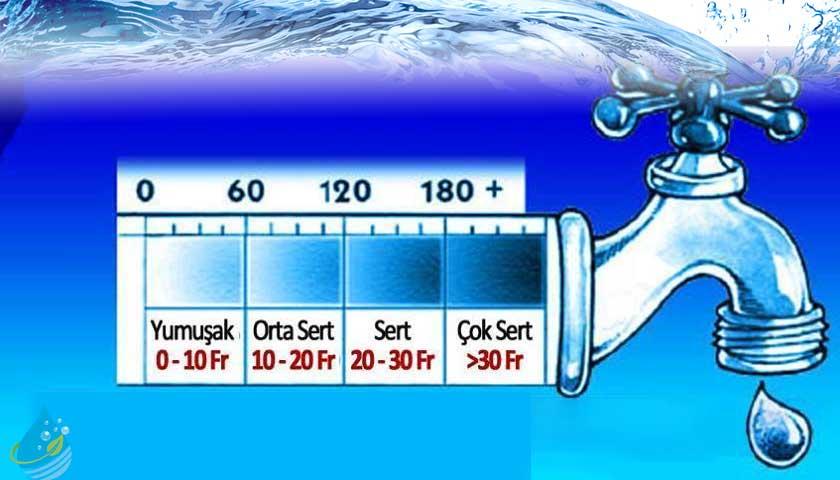 musluk, suyun sertliği